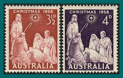 Australia Stamps 1958 Christmas Mint