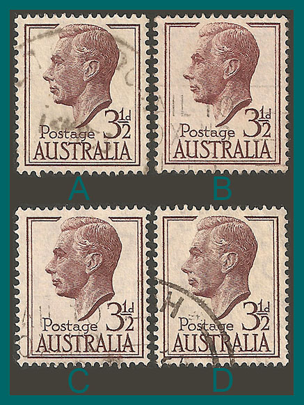 Australia Stamps 1951 King George VI 35d Used
